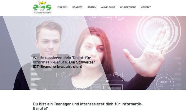 Internetauftritt fokusklasse.ch